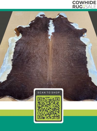 Authentic Hereford Cowhide 6 X 7 Brw 12 19