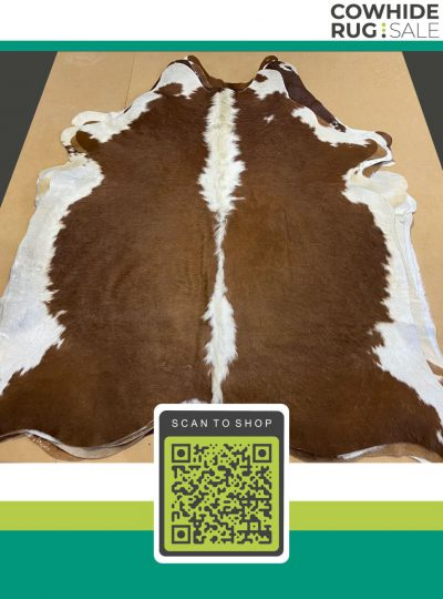 Brazilian Brown And White Cowhide 7 X 8 Br 18 72