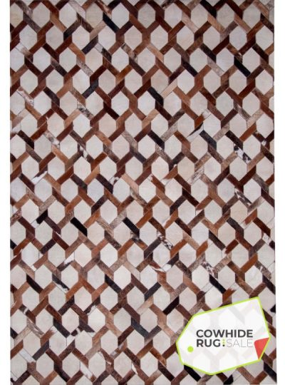 Chainlink Cowhide Leather Rug 1