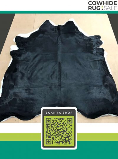 Dyed Black Cowhide 6 X 7 Dy 12 06