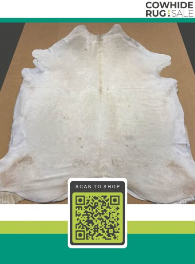 Ivory White Cowhide 7 X 8 Wh 11 37