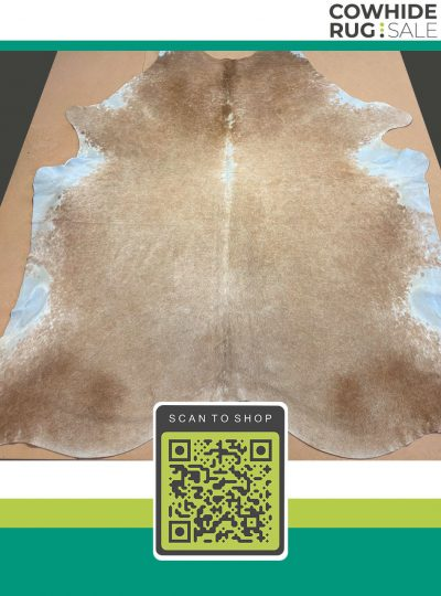 Large Soft Beige Cowhide 7 X 8 Be 16 42