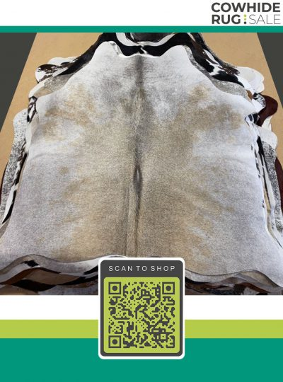 Real Beige And White Cowhide 6 X 7 Be 23 190