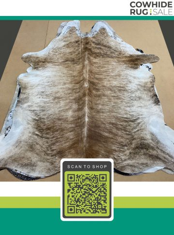 Small Brindle Cow Skin 5 X 6 Br 1 424