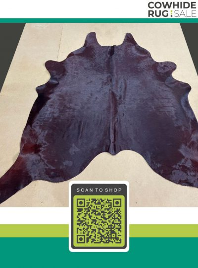 Small Wine Cowhide 5 X 6 Dy 28 02