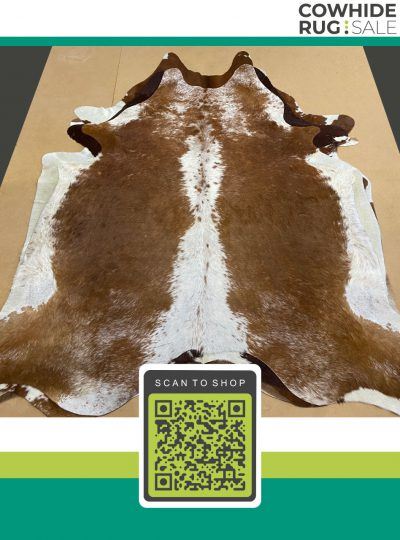 Two Sides Brown Cowhide 6 X 7 Brw 30 82