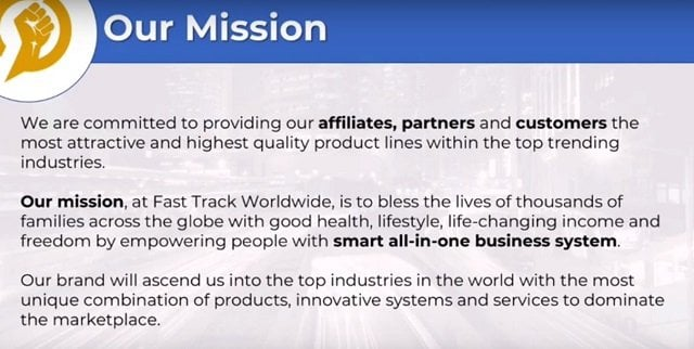 Fast Track Worldwide Incorporated Review