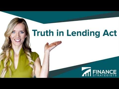 Truth in Lending Act (TILA) Definition   Finance Strategists   Your Online Finance Dictionary