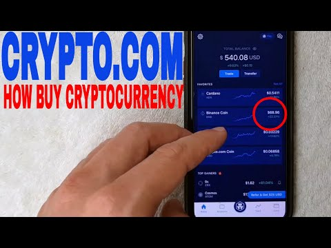 ✅  How To Buy Cryptocurrency On Crypto.com 🔴