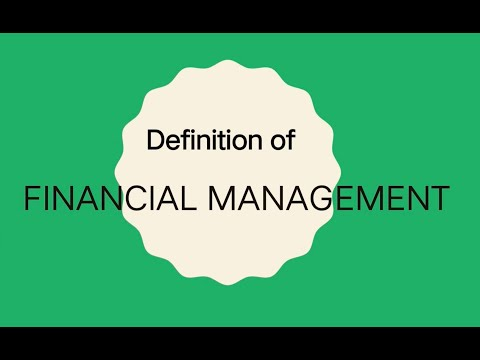 Definition of Financial Management (Filipino)