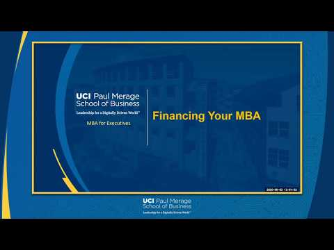 Financing Your MBA   MBA for Executives