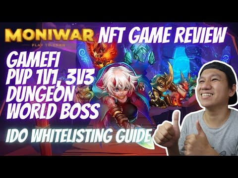 MONIWAR New NFT Game Review   Play To Earn   IDO Whitelisting Guide (Tagalog)