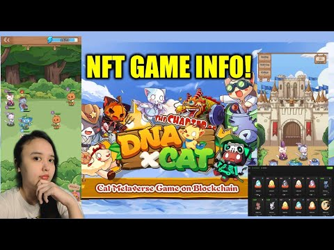 CAT IDLE BATTLE PLAY TO EARN NFT GAME?  DNAXCAT NFT GAME INFO!   DNAXCAT GAMEPLAY TESTING!