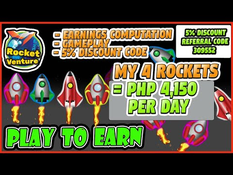 PLAY TO EARN DISCOUNT CODE ROCKET VENTURE CODE – INCOME PER DAY NFT GAMES – HABANG MABABA  PVU TOKEN
