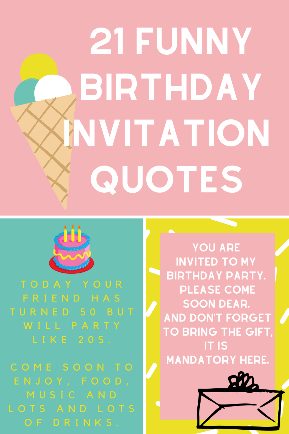 21 Funny Birthday Invitation Quotes Darling Quote