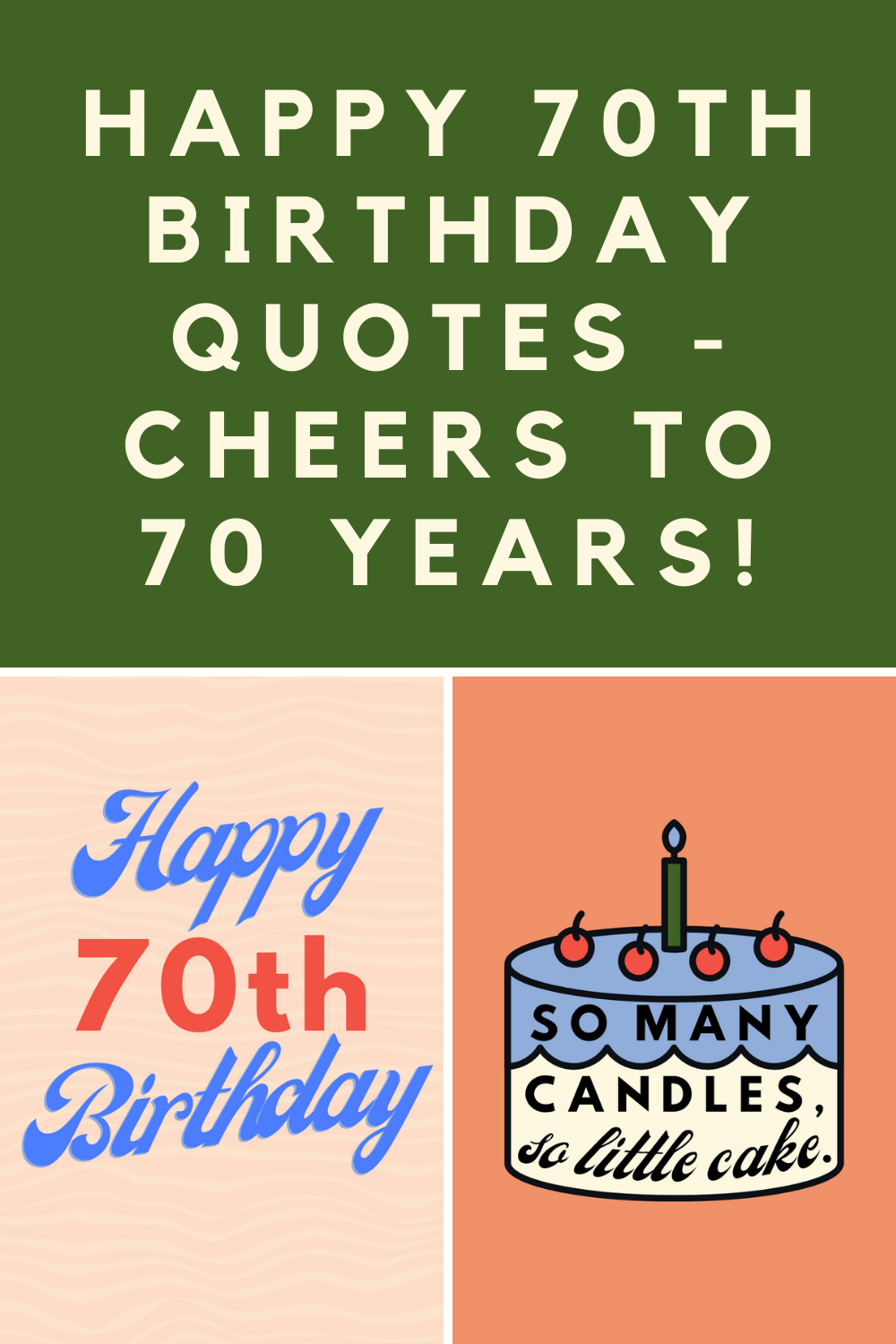 Happy 70th Birthday Quotes Cheers To 70 Years Darling Quote