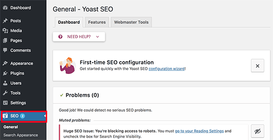 Pengaturan Yoast SEO wordpress