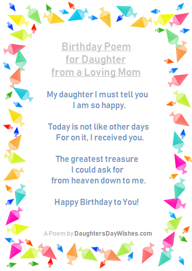 Happy Birthday Mom Poems From Daughter 3
