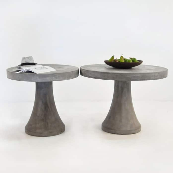 Blok Round Concrete Dining Table Outdoor Coffee Table Design