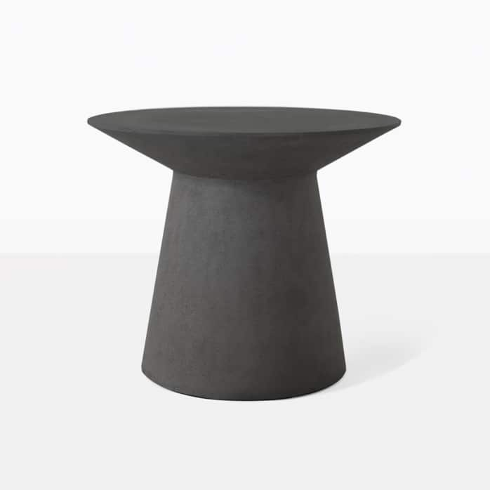 Holly Black Outdoor Concrete Side Table Design Warehouse Nz