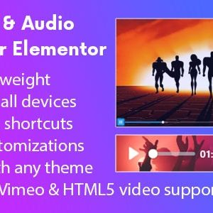 JUAL AZ Video and Audio Player Addon for Elementor