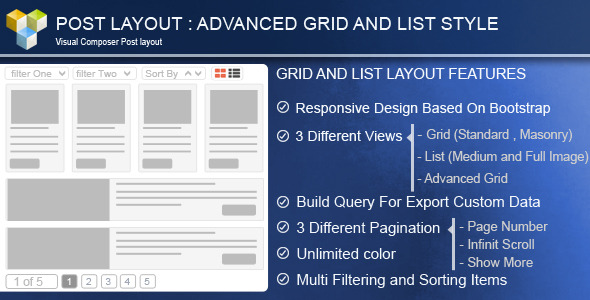 JUAL Advance Post Grid List with custom filtering for Visual Composer