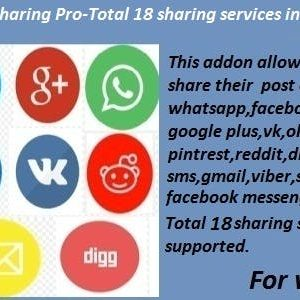 JUAL Advanced Social Sharing Pro For WoWonder
