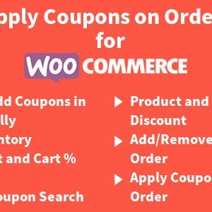 JUAL Apply Coupons on Order for WooCommerce
