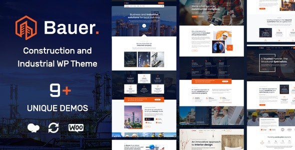 JUAL Bauer - Construction and Industrial WordPress Theme