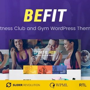 JUAL Be Fit - WordPress Theme for Gym