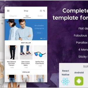 JUAL BeoStore - Complete Mobile UI template for React Native