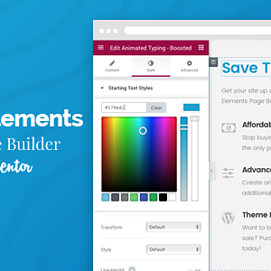 JUAL Boosted Elements - WordPress Page Builder Add-on for Elementor