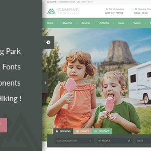 JUAL Camping Village - Campground Caravan Hiking Tent Accommodation WP Theme