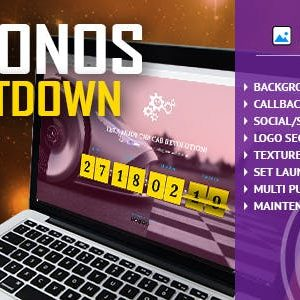 JUAL Chronos CountDown - Responsive Flip Timer With Image or Video Background