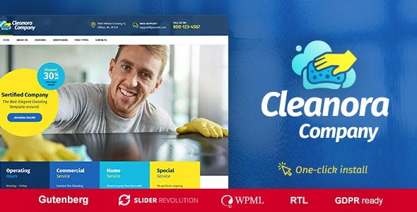 JUAL Cleanora - Cleaning Services Theme