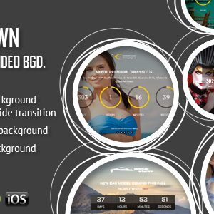 JUAL CountDown With Image or Video Background