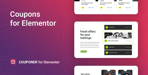 JUAL Couponer - Discount Coupons for Elementor