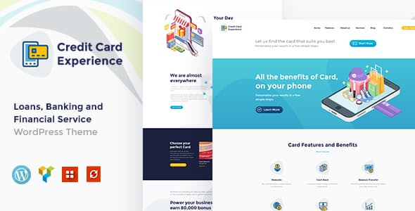 JUAL Credit Card Experience - Credit Card Company and Online Banking WordPress Theme