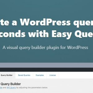 JUAL Easy Query Pro - WP Query Builder