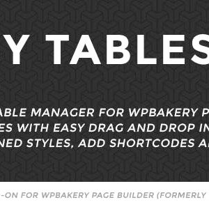 JUAL Easy Tables - Table Manager for WPBakery Page Builder