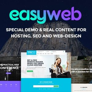 JUAL EasyWeb - WP Theme For Hosting