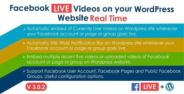 JUAL Facebook Live Video Auto Embed for WordPress