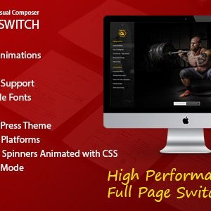 JUAL Full Page Switch - With Side Menu - Addon For Visual Composer