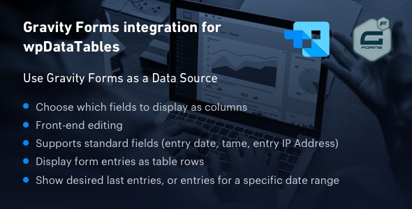 JUAL Gravity Forms integration for wpDataTables