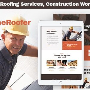 JUAL HomeRoofer - Roofing Company Services & Construction WordPress Theme