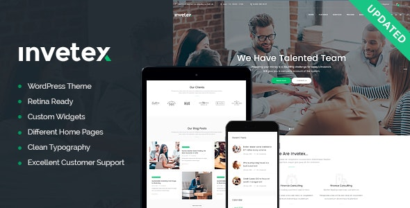 JUAL Invetex - Business Consulting & Investments WordPress Theme + RTL