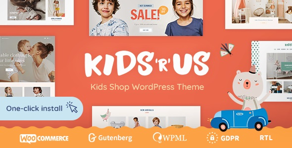 JUAL Kids R Us - Toy Store and Kids Clothes Shop Theme