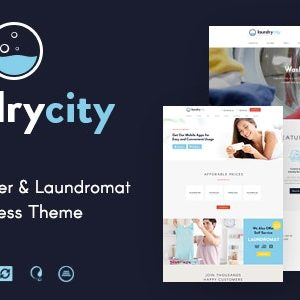 JUAL Laundry City - Dry Cleaning & Washing Services WordPress Theme