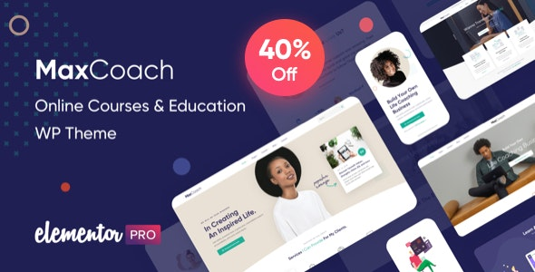 JUAL MaxCoach - Online Courses & Education WP Theme