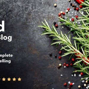 JUAL Neptune - Theme for Food Recipe Bloggers & Chefs